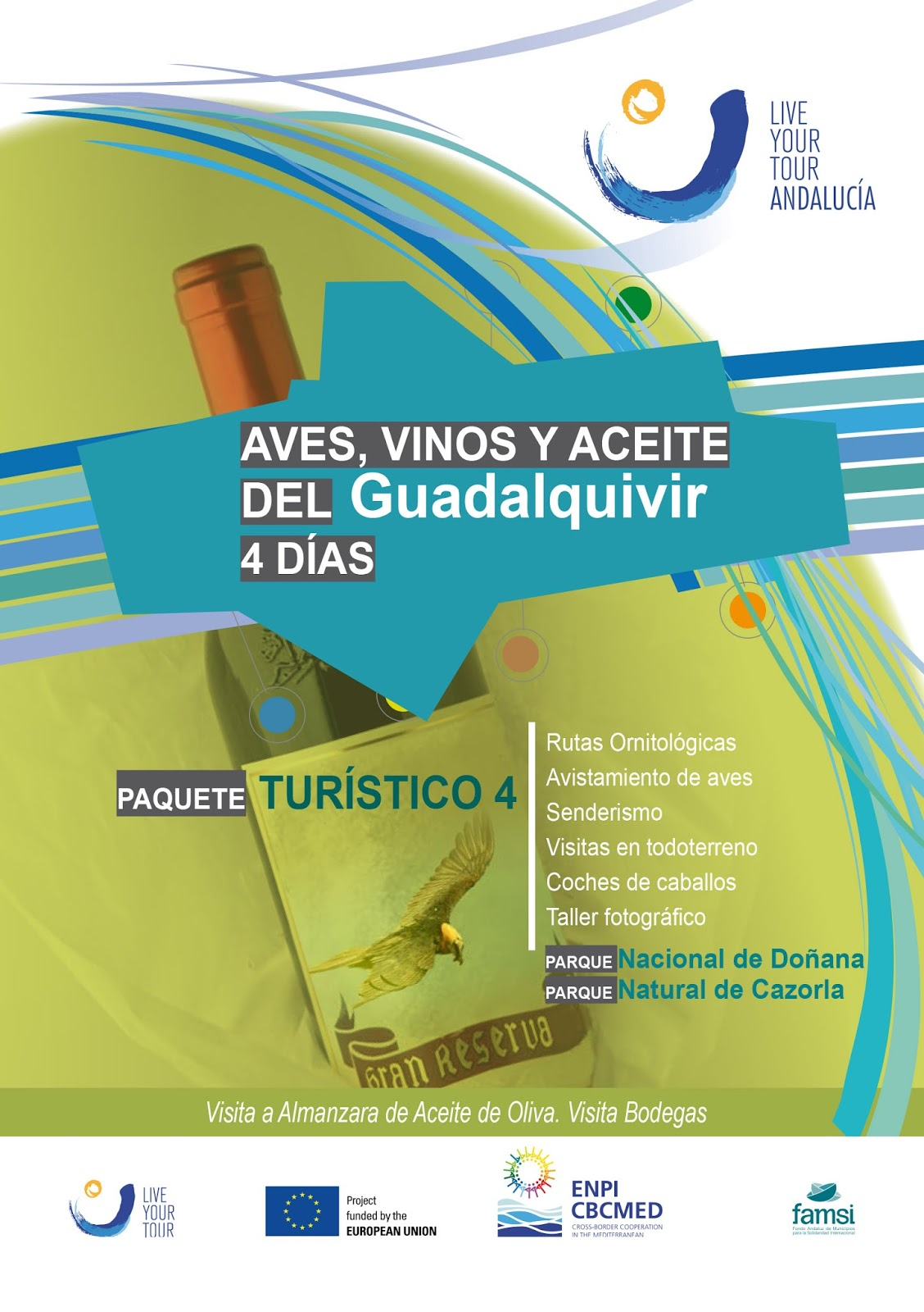 Aves vino y aceite
